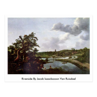 Riverside By Jacob Isaackszoon Van Ruisdael Postcard
