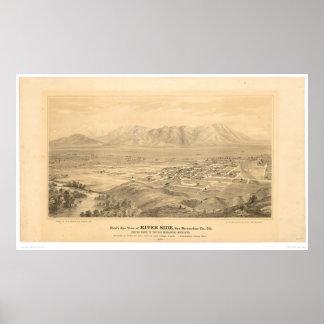 Riverside, CA. Panoramic Map 1877 (1404C) Poster