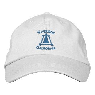 Riverside, California Raincross Fleur Design Embroidered Baseball Cap
