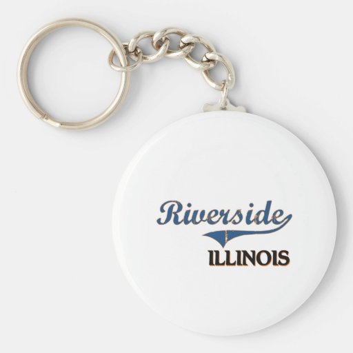 Riverside Illinois City Classic Keychain