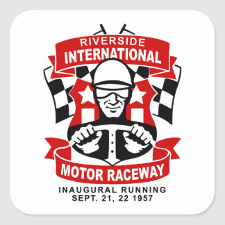 Riverside International Raceway Square Sticker