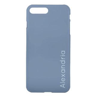 Riverside Rich Ocean Blue Sleek Solid Color Custom iPhone 7 Plus Case