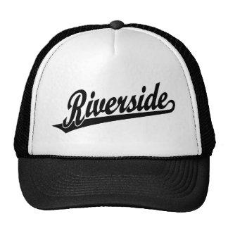 Riverside script logo in black cap