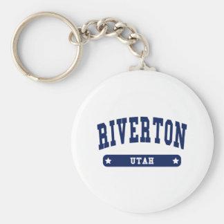 Riverton Utah College Style tee shirts Key Ring