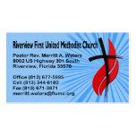 Riverview First UMC Pastor Rev. Business Card