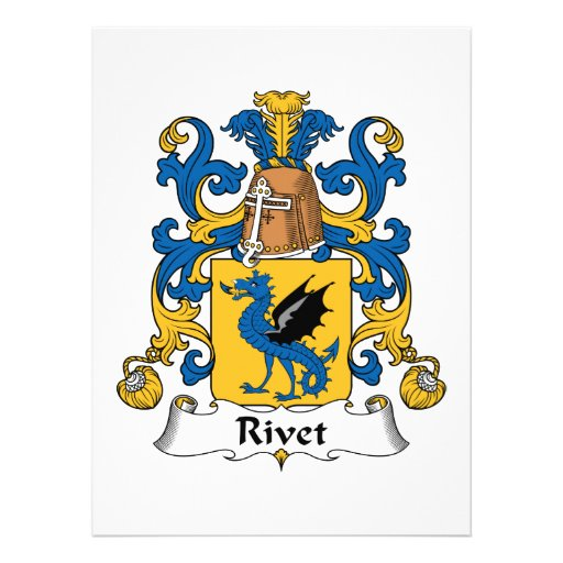 Rivet Family Crest Personalized Invitation