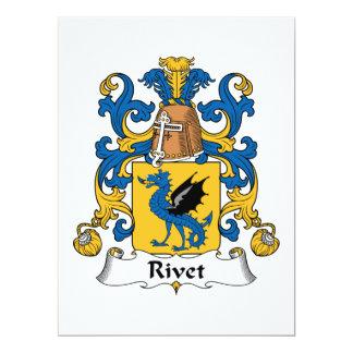 "Rivet Family Crest 6.5"" X 8.75"" Invitation Card"