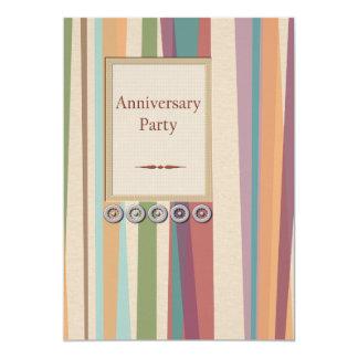 Rivets & Stripes Anniversary Party 13 Cm X 18 Cm Invitation Card