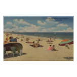 Riviera Beach, Florida - Sunbathers on Beach Print
