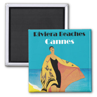 Riviera Beaches ~ Cannes Square Magnet