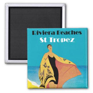 Riviera Beaches ~ St Tropez Refrigerator Magnet