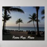 Riviera Maya Cancun Mexico Beach Vacation Poster