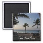 Riviera Maya Cancun Mexico Beach Vacation Square Magnet