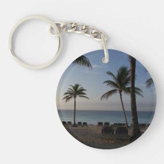 Riviera Maya Cancun Mexico Caribbean Sea Keychain Round Acrylic Keychain