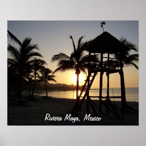 Riviera Maya Cancun Mexico Caribbean Sea Poster