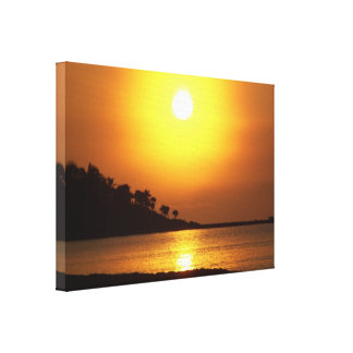 Riviera Maya Cancun Mexico Caribbean Sea Sunrise Canvas Print