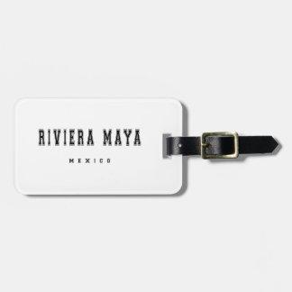 Riviera Maya Mexico Luggage Tag