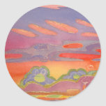 Riviera Sunset Clouds, customisable Round Stickers