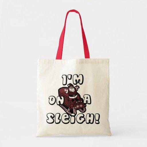 Riyah-Li Designs I'm On A Sleigh Tote Bag
