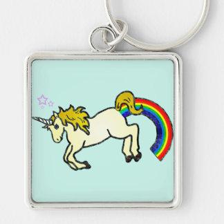 Riyah-Li Designs Rainbow Pooping Unicorn Key Ring