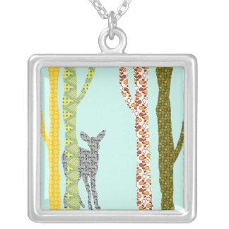 Riyah-Li Designs Woodland Forest Square Pendant Necklace