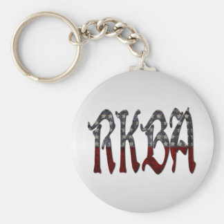 RKBA Right to Keep and Bear Arms Basic Round Button Keychain