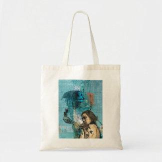 Rlack Rose Contemporary Design Inspired Tote Bag