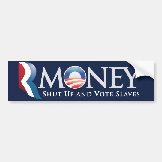 RMoney Romney Obama Bumper Sticker