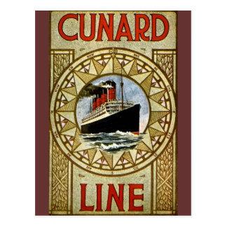 RMS Berengaria Vintage Cunard Line Postcard