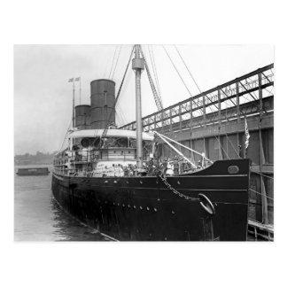 RMS Campania Postcard