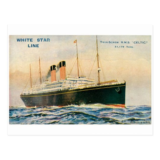 RMS Celtic Postcard