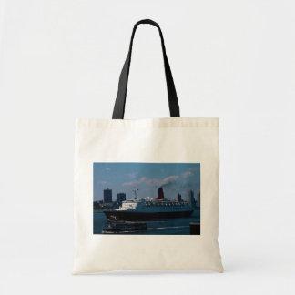 """RMS Queen Elizabeth II"""", ocean liner Canvas Bags"""