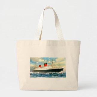 RMS Queen Elizabeth Jumbo Tote Bag