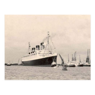 RMS Queen Mary Maiden Voyage PostCard