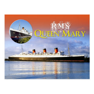 RMS Queen Mary Post Card