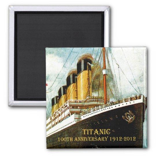 RMS Titanic 100th Anniversary Square Magnet