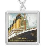 RMS Titanic 100th Anniversary Square Pendant Necklace