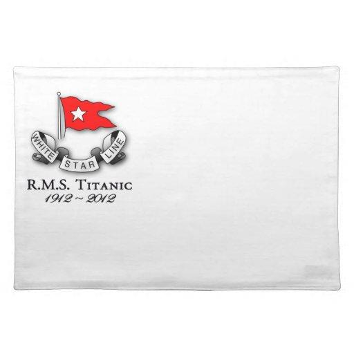 RMS Titanic 1912-2012 American MoJo Placemat