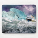 RMS Titanic and Iceberg Painting Mouse Pad