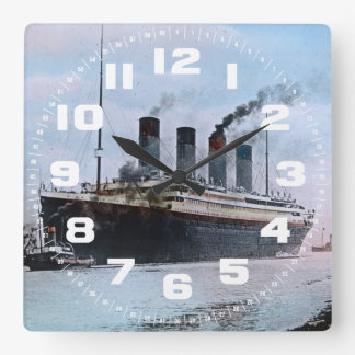 RMS Titanic Belfast Ireland Vintage Square Wall Clock