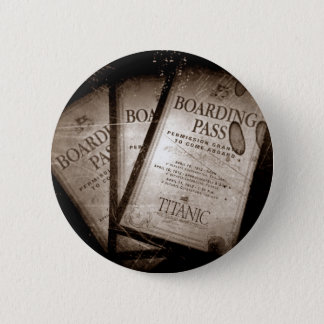 RMS Titanic Boarding Passes 6 Cm Round Badge