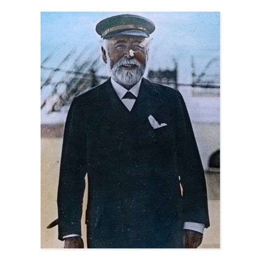 RMS Titanic Captain Edward Smith Vintage Postcard