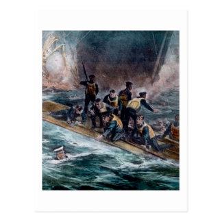 RMS Titanic Crew Escapes Behemoth Sinks Postcard