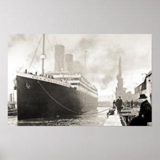 RMS Titanic Departs Southampton Print