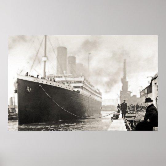 RMS Titanic Departs Southampton Poster