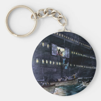 RMS Titanic Escape to the Lifeboats Quickly Key Chain