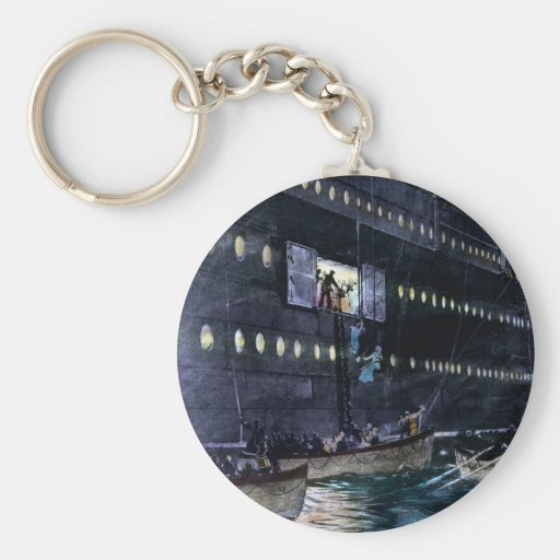 RMS Titanic Escape to the Lifeboats Quickly! Key Chain