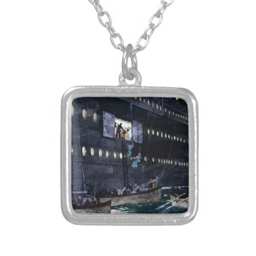 RMS Titanic Escape to the Lifeboats Quickly! Personalized Necklace