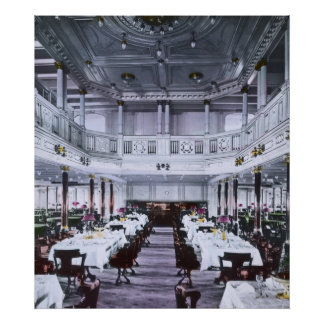 RMS Titanic Grand Dining Room Luxury Poster