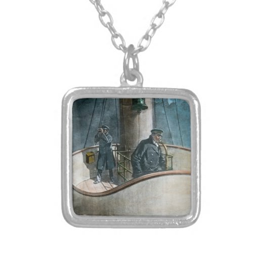 RMS Titanic Iceberg Ahead! Vintage Magic Lantern Necklace